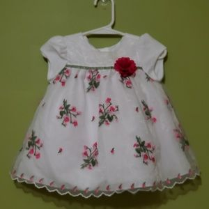 Baby Dress embroidered ribbon detail 6-9 months